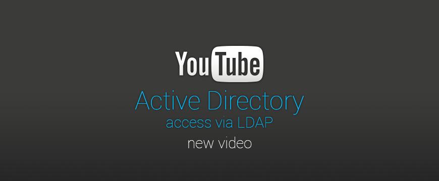 New video tutorial – Active Directory access via LDAP