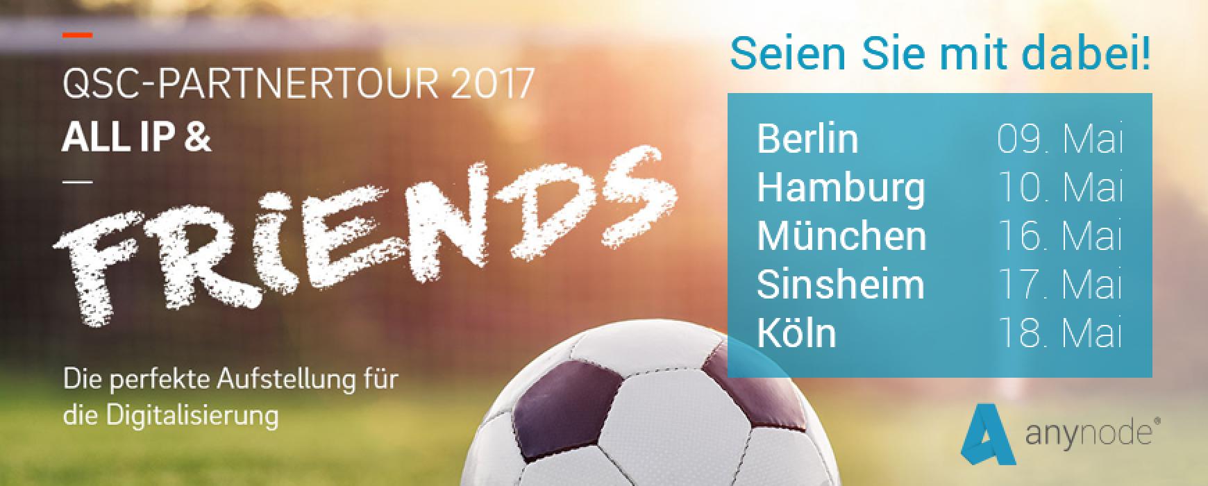 QSC-Partnertour: anynode spielt erste Liga