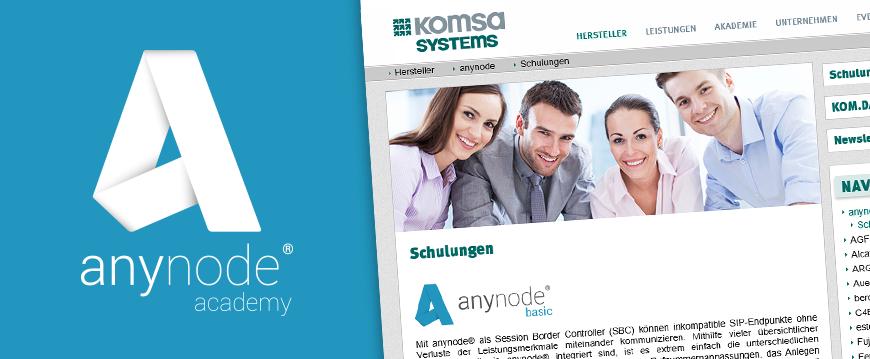 Neuauflage: anynode® basic Schulung bei KOMSA Systems GmbH