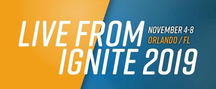 Microsoft Ignite 2019 ahead!