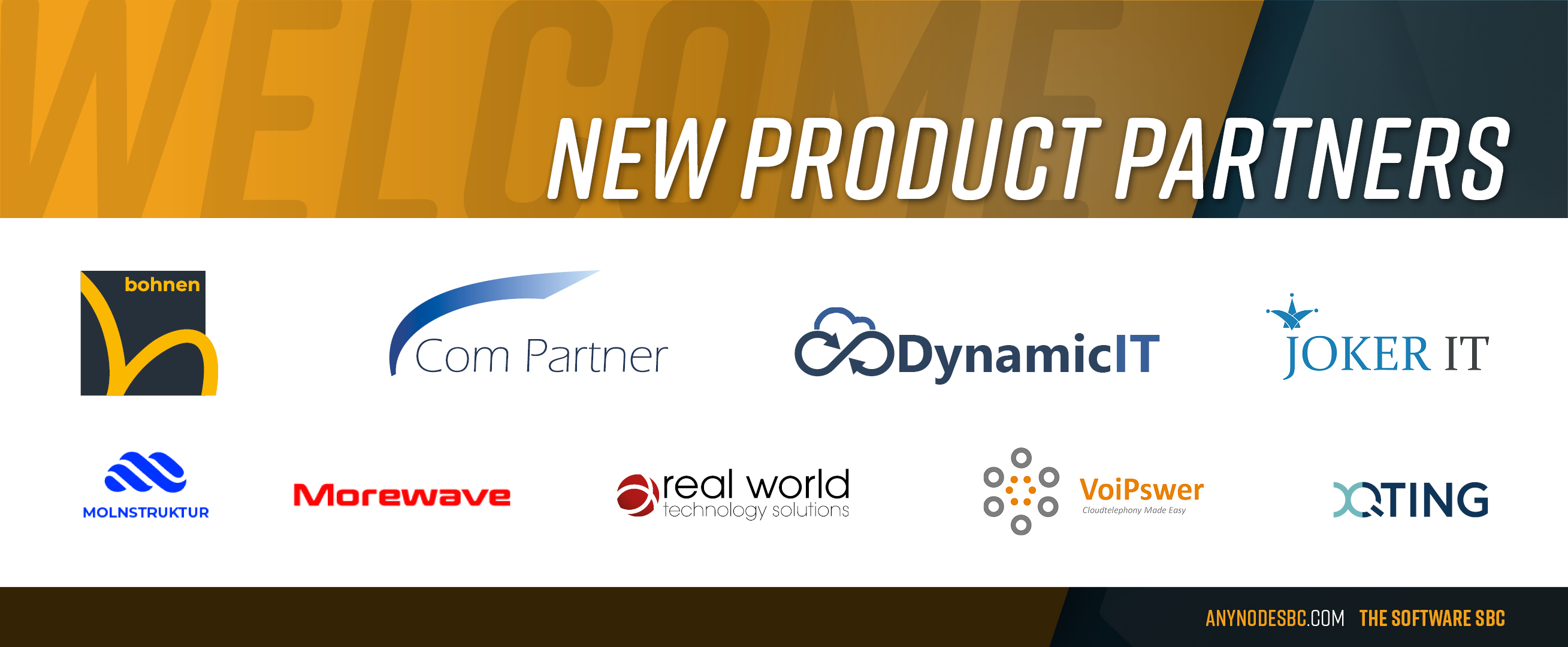 New anynode Product Partners in April 2020!