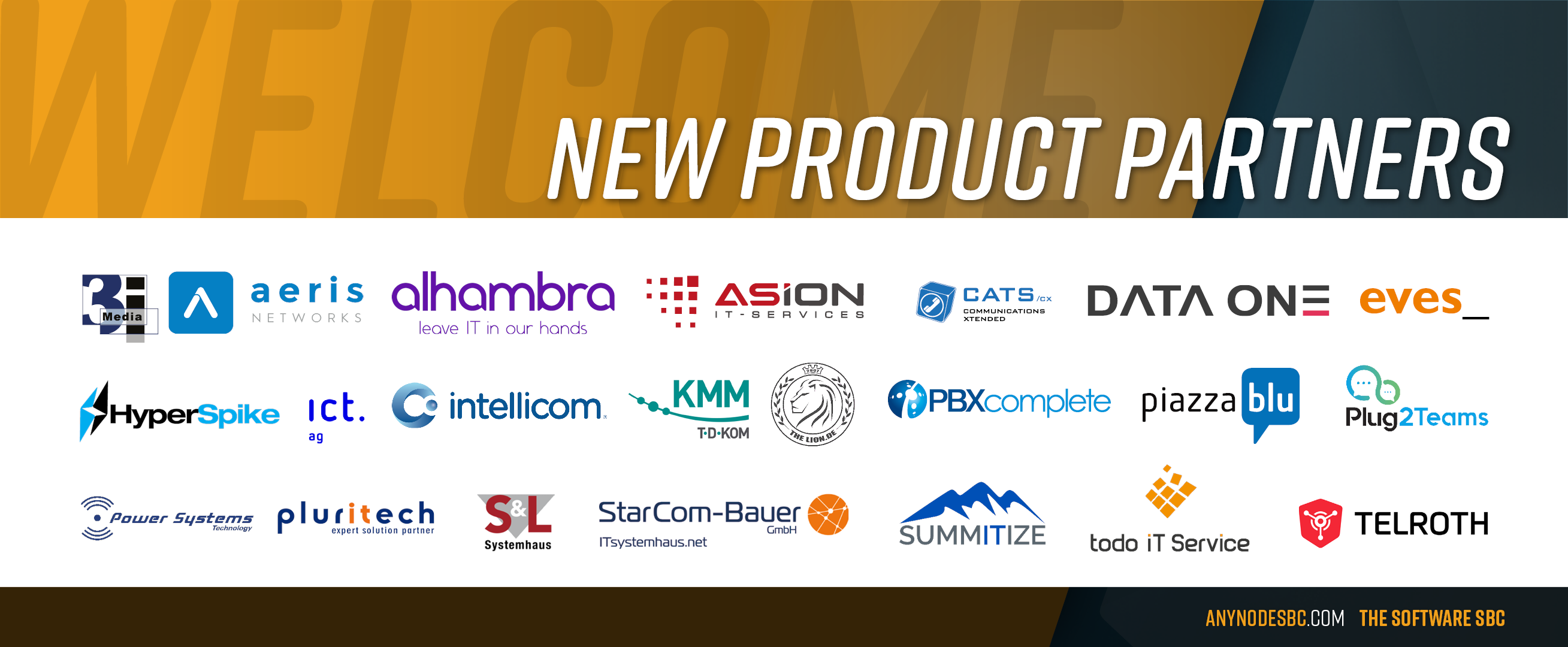New anynode Product Partners in July 2020!