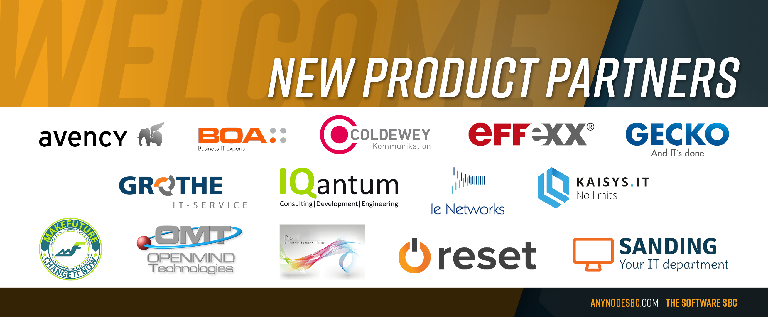 New anynode Product Partners in August 2020!
