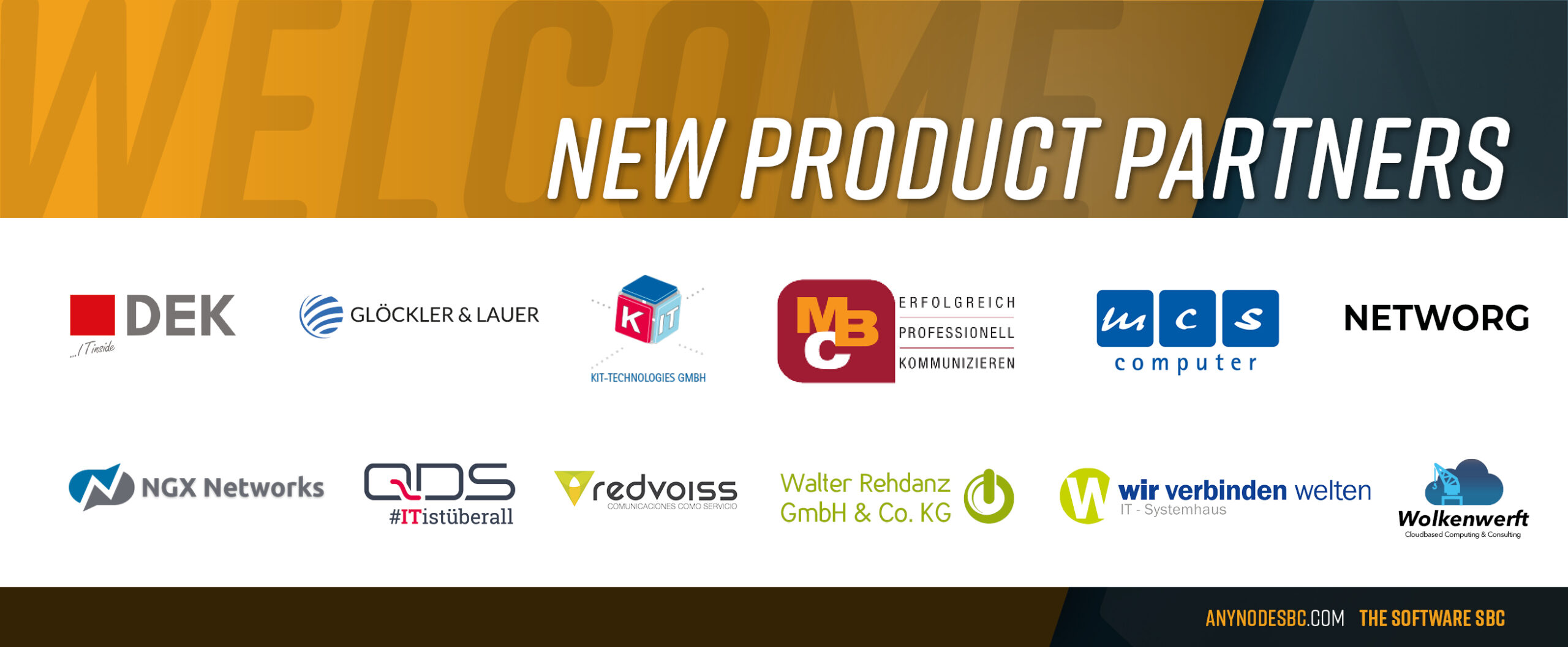 New anynode Product Partners in November 2020!