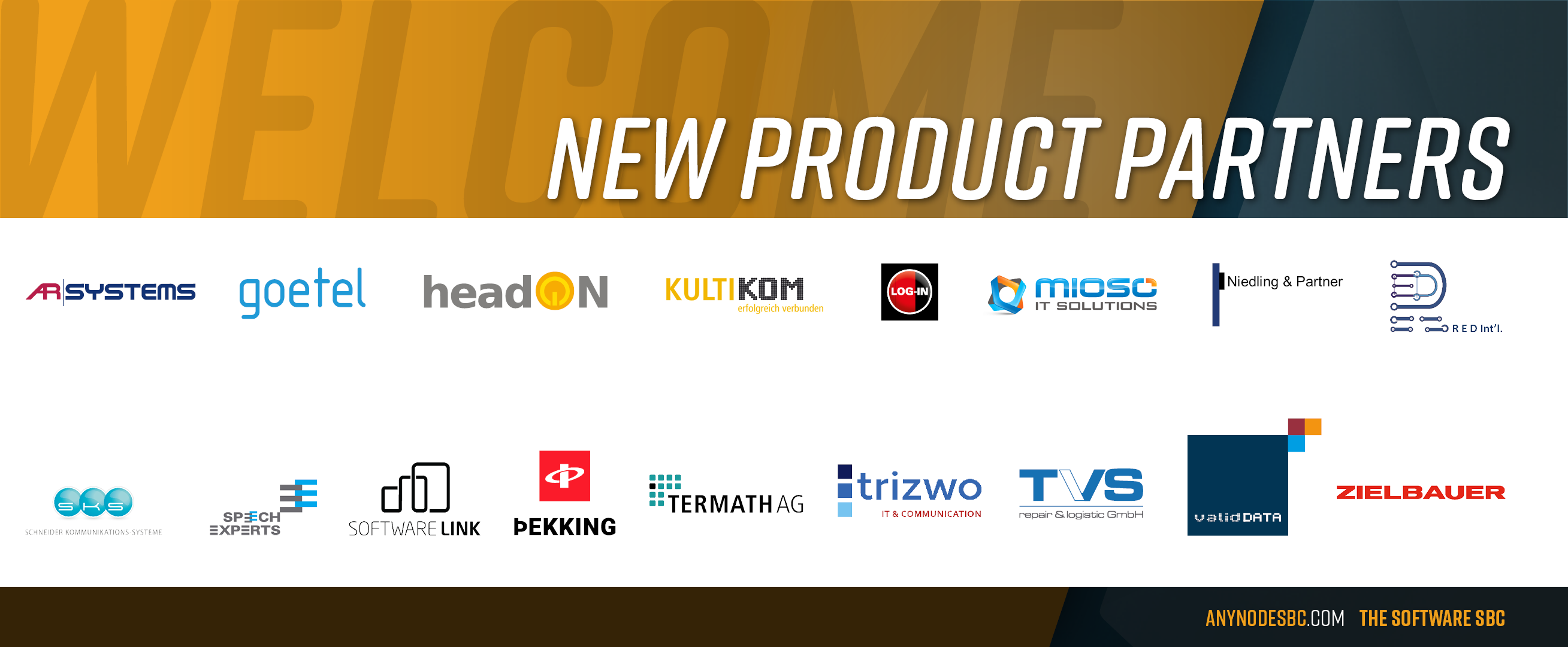 New anynode Product Partners in December 2020!