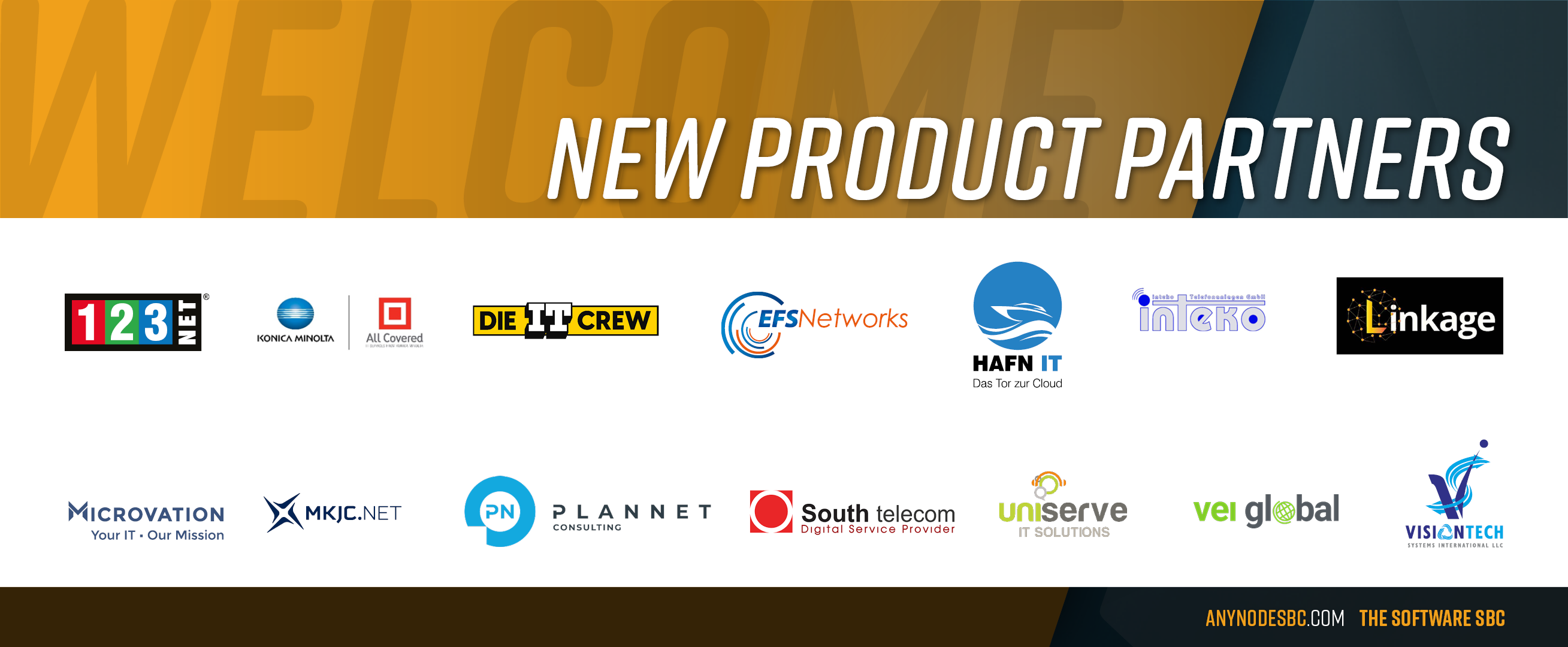 New anynode Product Partners in January 2021!