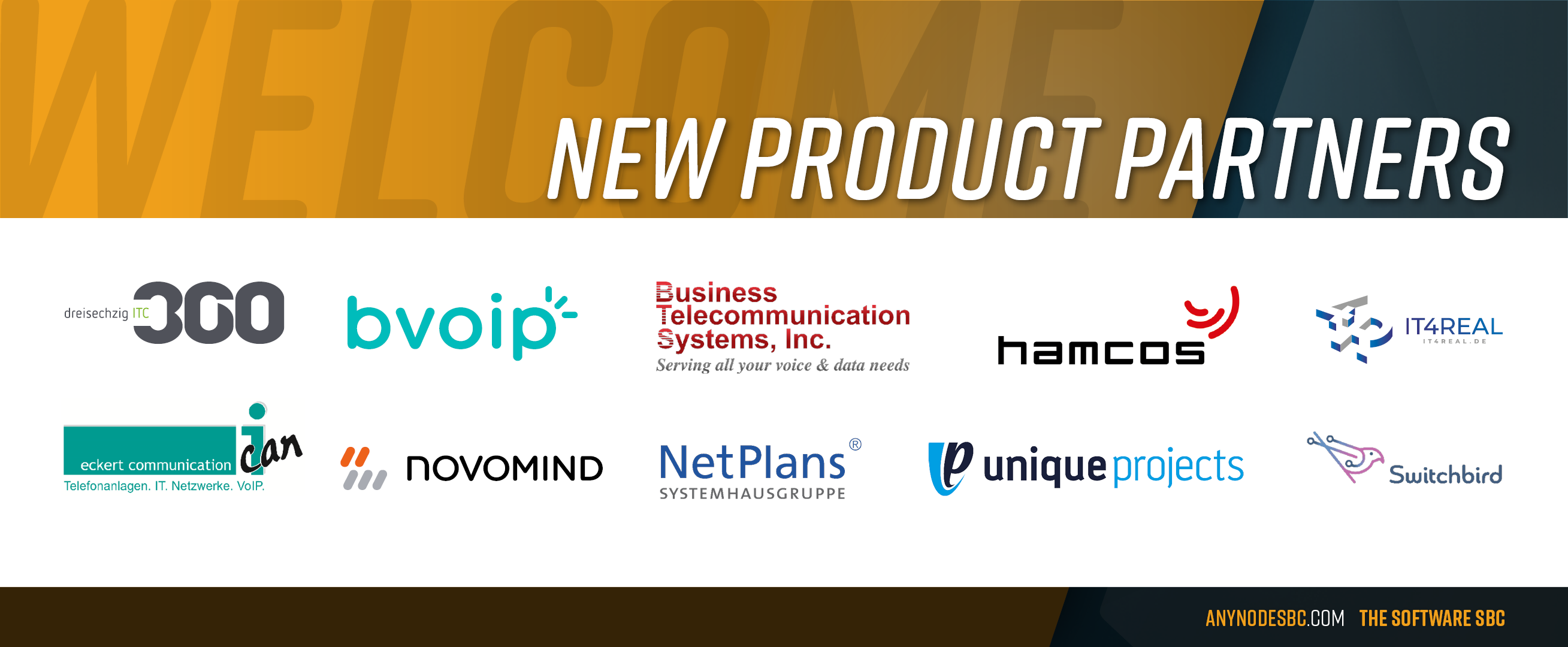 New anynode Product Partners in February 2021!