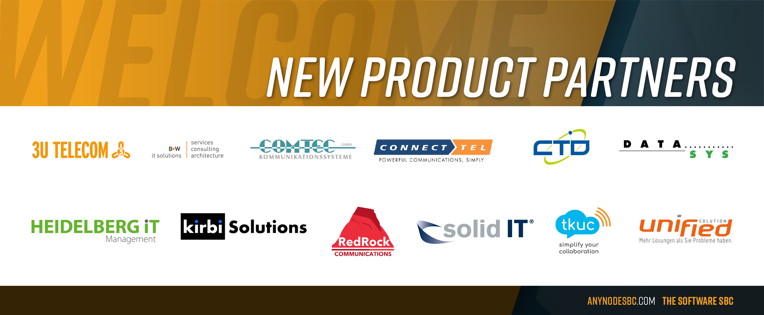 New anynode Product Partners in March 2021!