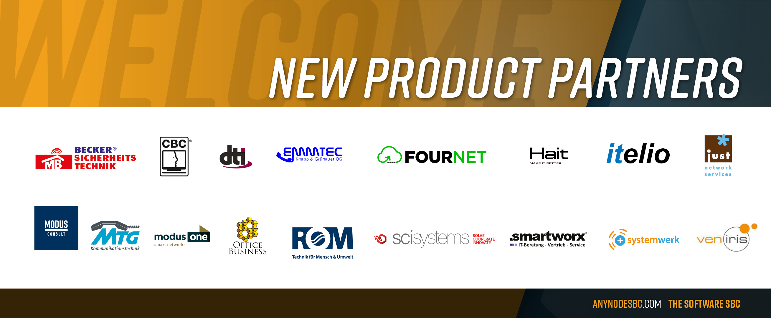 New anynode Product Partners in our Community!